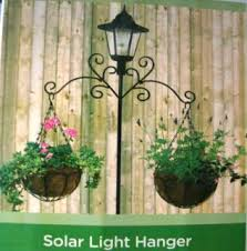 Solar Lights Hanging by Solar Lamp Post Light Hanger With 2 X Hanging Baskets Coco
