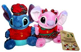 disney stitch angel holiday mini bean bag plush stuffed animals