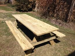 exteriors round wood picnic table with umbrella octagon picnic