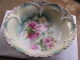 rs prussia bowl roses antique reinhold schlegelmitch rs prussia painted pink roses