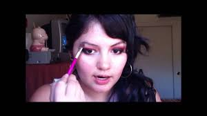 naughty nurse inspired halloween makeup part 1 youtube