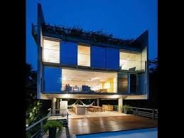 Slope House Modern House Design Built On 50 Of Slope Topography Offering The