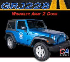 jeep wrangler graphics 2007 2015 jeep wrangler army two door vinyl graphic stripe package