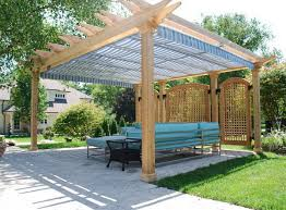 patio with pergola tent shade and privacy screen patio design