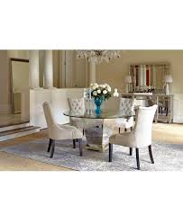 Mirrored Dining Table Marais Round Dining Room Furniture Collection Mirrored