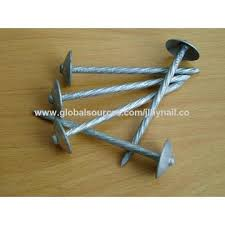 china umbrella head roofing nail with electric galvanized