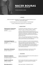 Sample Resume Maintenance Technician by Maintenance Supervisor Resume Samples Visualcv Resume Samples