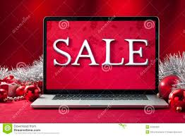 Christmas Decoration Sale Online by Laptop Computer And Smartphone With Christmas Decorations