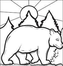 free printable bear coloring kids
