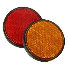 motocross bikes for sale ebay 2x 2 u0027 u0027 round red u0026 orange reflectors universal for motorcycle atv