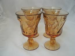 vintage champagne glasses vintage fostoria jamestown amber glass footed sherbet glasses 4 ebay