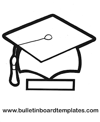 grad hat coloring page kids drawing and coloring pages marisa