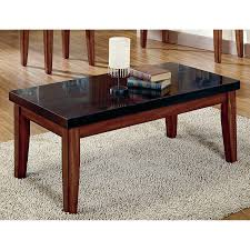 Dark Wooden Table Top Square Gray Granite Coffee Table Counter Top Combined With Light