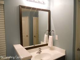 home depot lighted mirrors top 45 awesome wood framed bathroom mirrors home depot storage