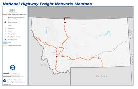 Montana Highway Map by National Highway Freight Network Map And Tables For Montana Fhwa