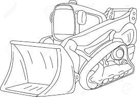 vector excavator dozer isolated on background royalty free