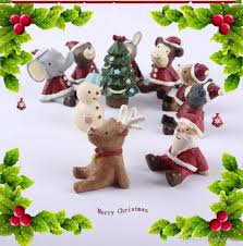 new christmas decoration accessories cute resine animal decorative