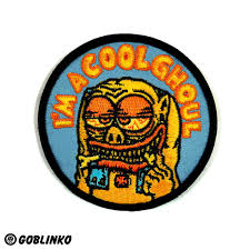 halloween buttons i u0027m a cool ghoul patch u2013 goblinko megamall