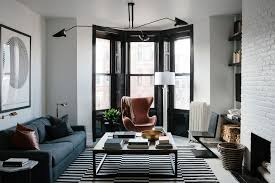a black and white bachelor pad in brooklyn home tour lonny