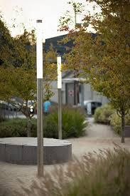 outdoor lighting portland oregon light column pedestrian lighting at south waterfront portland