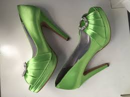 wedding shoes green green wedding shoes platform heel bridal shoes adorned with
