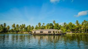 wallpapers india alappuzha kerala nature palms riverboat 2560x1440