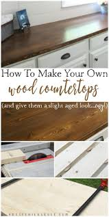 Diy Wooden Kitchen Countertops How To Make A Diy Wood Countertop Easier Than You Thought Diy