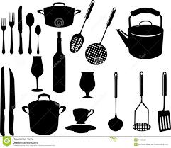 nom des ustensiles de cuisine ustensiles divers de cuisine illustration de vecteur illustration