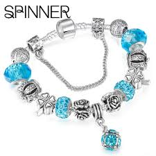 european style bracelet charms images Spinner european style vintage silver plated crystal charm jpg