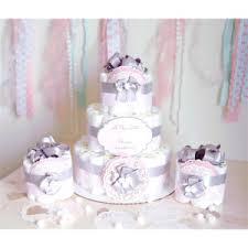 mint u0026 silver princess mini diaper cake baby shower centerpieces