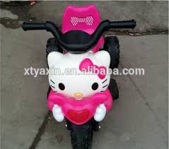 kitty plastic design children ride toy electric kids