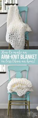 how to make an arm knit blanket in less than an hour the
