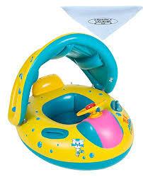 bouée siège pour bébé uclever bouée siège gonflable flotteur bateau bébé avec pare soleil