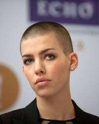 womens buzzed and bold haircuts and this woman whose buzz cut offsets her fierce attitude