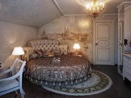 luxurious bedroom wall mural round bed room decoration ideas