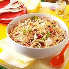 sesame chicken noodle salad recipe taste of home