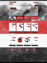 website template 46525 knives shop knife custom website template