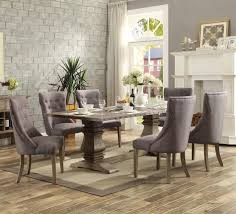 homelegance anna claire 7 piece dining room set w side wing chairs