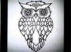 owl tattoos flowers owl