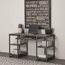 Oak Desk Type Acme Furniture Inscho Gray Oak Desk With Adjustable Heights 92350