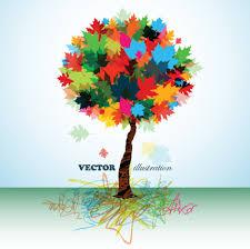 creative colorful tree design elements vector 02 vector plant