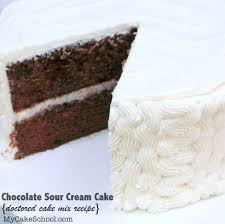 chocolate sour cream cake doctored cake mix my cake