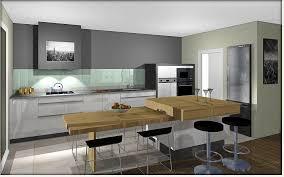 ilot cuisine avec table ilot table cuisine meilleur de ilot central table hauteur plan de