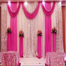 Pink And Teal Curtains Decorating A Set 3x6m Luxury Wedding Background Gauze Curtain Backdrop With