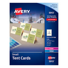 Table Tent Cards Amazon Com Avery Small Ivory Tent Cards Laser Inkjet Printers