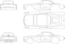 1957 chevrolet gasser edition coupe blueprints free outlines