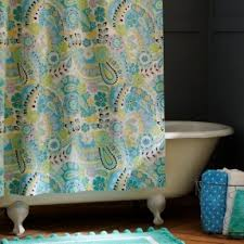 Green And Blue Curtains Blue Yellow Shower Curtain Foter