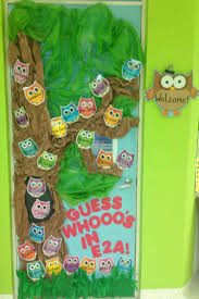 classroom door ideas for thanksgiving owl door decoration to welcome kindergarten kids teacher ideas