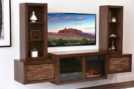 floating fireplace entertainment center console eco geo mocha