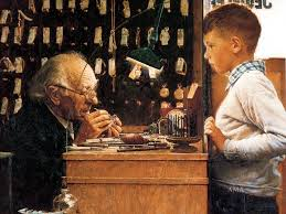 the watchmaker of switzerland norman rockwell painting